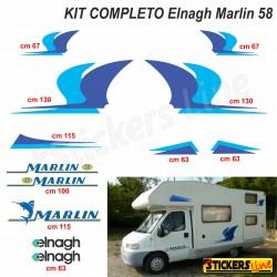Kit completo adesivi per Camper ELNAGH Marlin 58 - Linea Professionale -