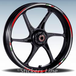 Adesivi cerchi scooter Kymco Agility 200 cc strisce ruote 16 + 14 pollici Rac.3