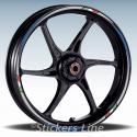Adesivi cerchi scooter Kymco AK 550 cc strisce ruote AK550 Racing 3