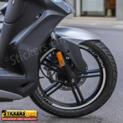 Adesivi ruote Kymco Agility 300 cc strisce cerchi moto wheels stickers 300i