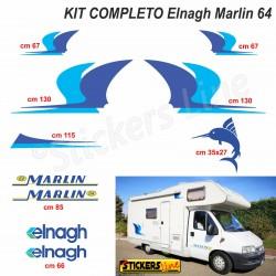 Kit completo adesivi compatibili per camper ELNAGH Marlin 64