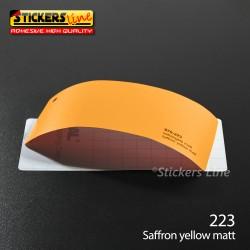 Pellicola adesiva Oracal Giallo zafferano opaco serie 970 cod. 223 adesivo giallo cast film gloss yellow car wrapping auto moto