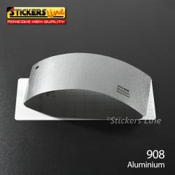 Pellicola adesiva alluminio metallizzato serie 970 cod. 908 adesivo alluminio cast film gloss car wrapping auto moto