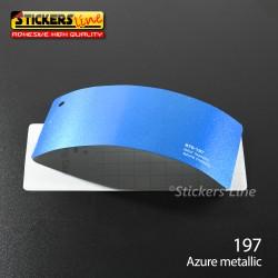 Pellicola adesiva azzurro metallizzato serie 970 cod. 197 adesivo azzurro cast film gloss Azur car wrapping auto moto