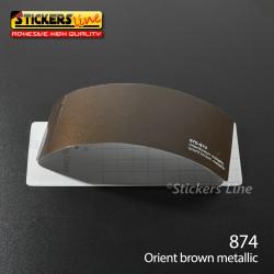 Pellicola adesiva marrone metallizzato serie 970 cod. 874 adesivo marrone cast film gloss orient brown car wrapping auto moto