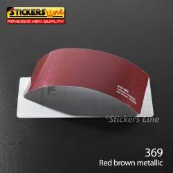 Pellicola adesiva rosso metallizzato serie 970 cod. 369 adesivo rosso cast film gloss red brown car wrapping auto moto
