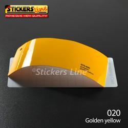 Pellicola adesiva Oracal giallo lucido serie 970 cod. 020 adesivo giallo cast film gloss golden yellow car wrapping auto moto
