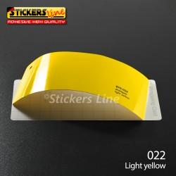 Pellicola adesiva Oracal giallo lucido serie 970 cod. 022 adesivo giallo cast film gloss light yellow car wrapping auto moto