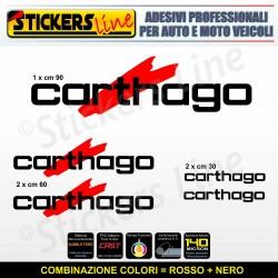 Kit completo 5 adesivi camper CARTHAGO loghi M1 stickers caravan roulotte decal