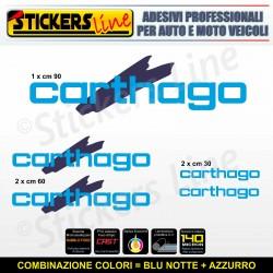 Kit completo 5 adesivi camper CARTHAGO loghi M3 stickers caravan roulotte decal