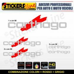Kit completo 5 adesivi camper CARTHAGO loghi M4 stickers caravan roulotte decal