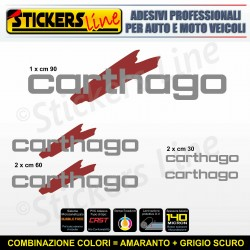 Kit completo 5 adesivi camper CARTHAGO loghi M5 stickers caravan roulotte decal