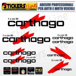 Kit completo 8 adesivi camper CARTHAGO loghi stickers caravan roulotte decal