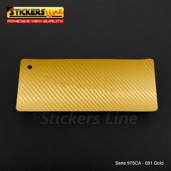 Pellicola adesiva Oracal oro serie 975CA cod. 091 cm 152x10 mt adesivo cast film Gold Carbon car wrapping auto moto