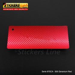 Pellicola adesiva Oracal rosso serie 975CA cod. 305 cm 152x10 mt adesivo cast film Geranium Red Carbon car wrapping auto moto