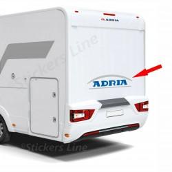 Adesivi per Camper ADRIA scritta lato posteriore logo grigio argento / blu