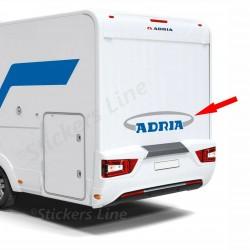 Adesivi Camper ADRIA scritta lato posteriore logo grigio argento / blu