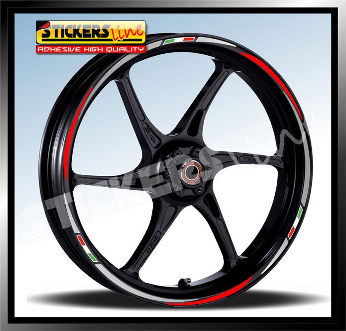 Adesivi per ruote moto Yamaha Factory Racing 17 pollici Oro metallizzato